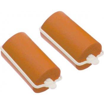 Бигуди резиновые dewal beautyоранжевые d 32ммx70мм(10шт/упак)