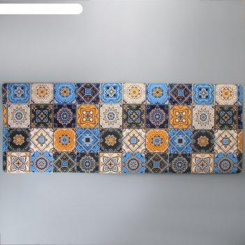 Коврик для ванны 45х120 см богемия мозаика