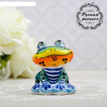 Сувенир «лягушка ква», 5 см, гжель