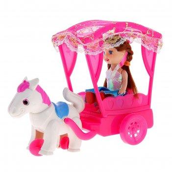 Кукла малышка в карете