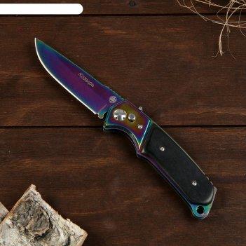 Нож складной кнопочный козырь