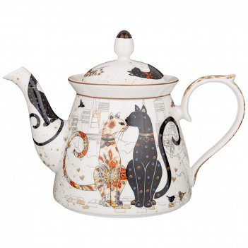 Чайник lefard парижские коты 1000 мл (кор=12шт.)