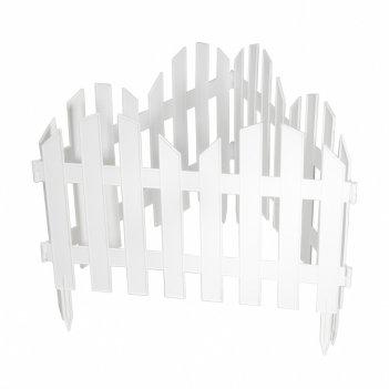 Забор декоративный романтика 28 x 300 см, белый россия palisad