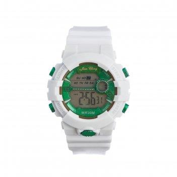 Часы наручные электронные jian cheng, d=5 см, ремешок силикон 24.5 см