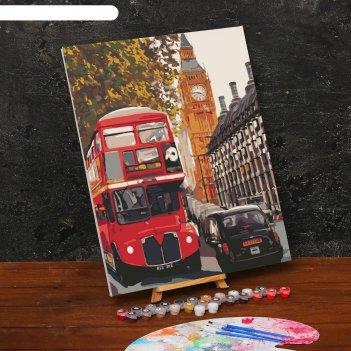 Картина по номерам на холсте с подрамником «лондон» 40х50 см