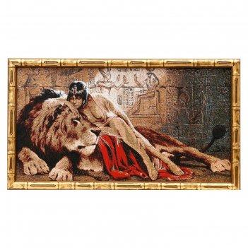 Гобеленовая картина 62х35см клеопатра