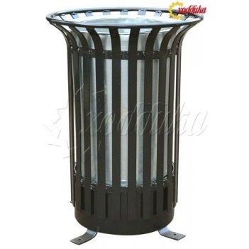 Урна уличная круглая «вертикаль» объём: 40 литров