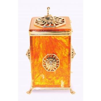 Коробочка для чая цезарь из янтаря