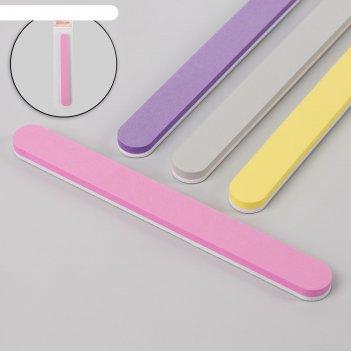 Пилка-полировка, абразивность 100/180, 18 см, цвет микс