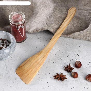 Лопатка деревянная славянская, 30 х 7 см, массив черешни