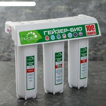 Фильтр под мойку гейзер-3 био 321 для жесткой воды стандарт