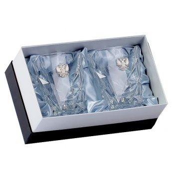 Два бокала для виски eskymos , накладка герб серебро ч/х