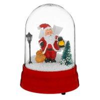 Сувенир снежный шар 19*12,5 см дед мороз с елкой