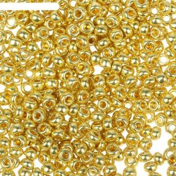 Бисер gamma круглый 10/0 (f398 золотой)