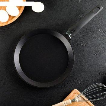 Сковорода блинная «традиция», d=24 см, съёмная ручка, антипригарное покрыт