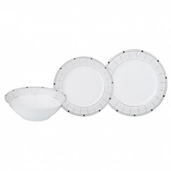Набор тарелок на 6 персон 18 пр. диаметр=27/19/18 см (кор=2набор.)