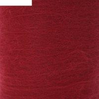 Шерсть для валяния кардочес 100% полутонкая шерсть 200гр (091 вишня)
