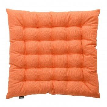 Подушка на стул russian north, размер 40х40х4 см, цвет оранжевый