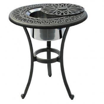 Стол с ведром для льда вишневый садъ классик d53, садовая мебель
