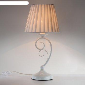Настольная лампа severina 1x60вт е14 белый 22x22x45,6см