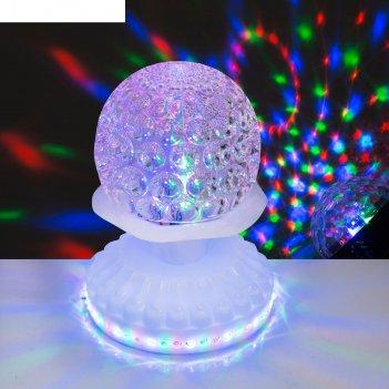 Световой прибор хрустальный шар, 50 led, 220 в, белый