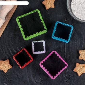 Набор форм для печенья, 5 шт, цвет микс