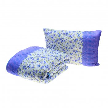 Комплект миродель: одеяло 145*205 ± 5 см/подушка 50*70см, холофан, п/э, че