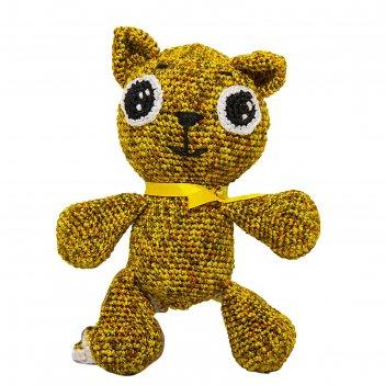 Набор для вязания игрушки котенок рыжий 16х13 см