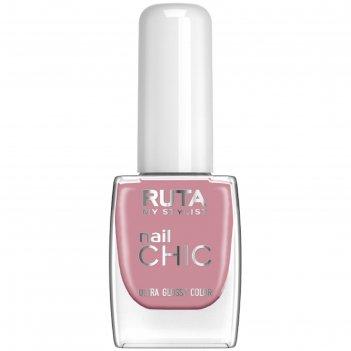 Лак для ногтей ruta nail chic, тон 08, тёплый кашемир