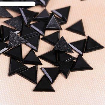 Стразы термоклеевые «треугольник», 10 x 10 мм, 50 шт, цвет чёрный