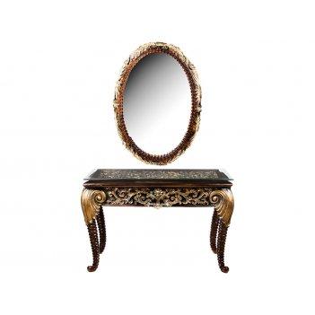 Комплект:зеркало 78*5*112 см. и консоль со стеклом 121*46*79 см. (кор=1ком