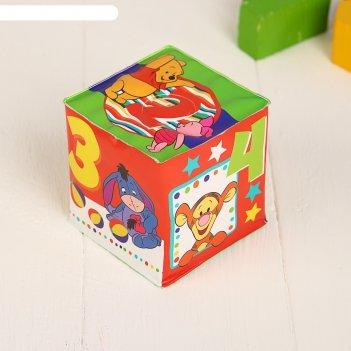 Мягкие кубики «цифры», со свистулькой, медвежонок винии и его друзья р-р.