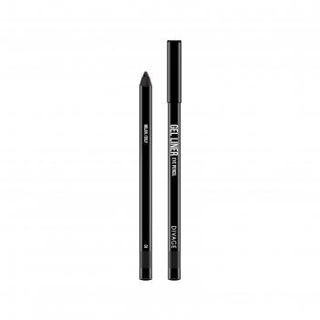 Гелевый карандаш для глаз divage, gel liner, цвет № 01