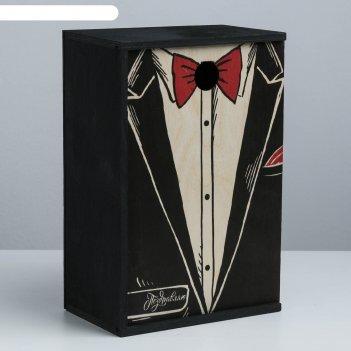 Ящик подарочный деревянный «поздравляю», 20 x 30 x 12 см