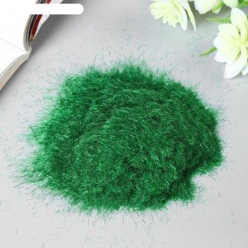 Декор для создания миниатюр (деревья, газон) порошок флок зелёный набор 30