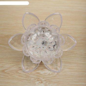 Ночник пластик цветочек 8х8х7,5 см