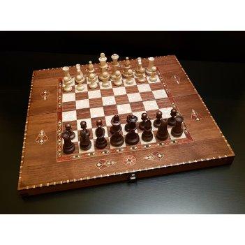Шахматы - нарды константа 54 см орех антик