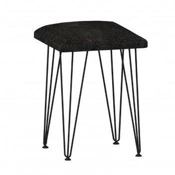 Табурет стайл 320х320х470 мебельная рогожка черный