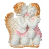 Статуэтка ангел и фея большая, бело-золотая