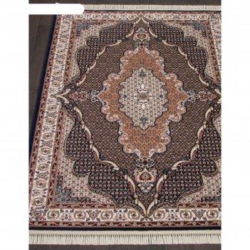 Прямоугольный ковёр isfahan d513, 200x285 см, цвет navy