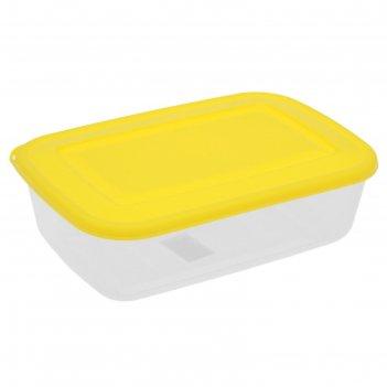 Контейнер пищевой прима 3,4 л, с крышкой, прямоугольный, цвета микс