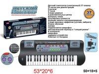 Синтезатор 37 клавиш, черн., эл. звук, микрофон,запись, эл.пит.не вх.в ком