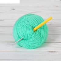 Крючок для вязания с пластиковой ручкой, d=3,5мм, 14см