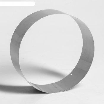 Форма для выпечки и выкладки круглая, 18,5 х 18.5 х 6,5 см, (1 сорт)