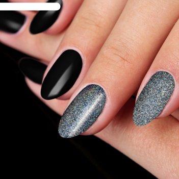 Пудра для декора ногтей, цвет серебристый