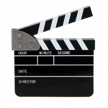 Часы настольные электронные с будильником кинематограф h=11см.