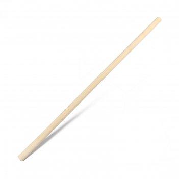 Черенок деревянный, d = 36 мм, длина 120 см, сухой, шлифованный, первый со