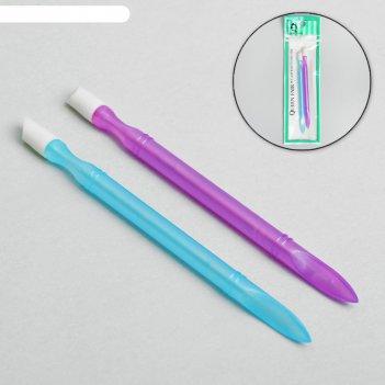 Пушер пластиковый, двусторонний, 11 см, 2 шт, цвет микс
