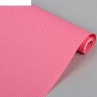 Коврик противоскользящий 30х150 см полосы, цвет розовый