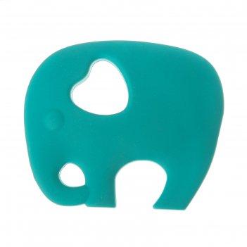 Прорезыватель силиконовый «крошка слон», цвет микс